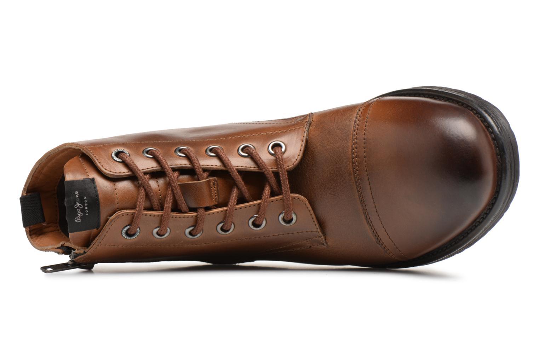 Bottines et boots Pepe jeans TOM-CUT MED BOOT Marron vue gauche