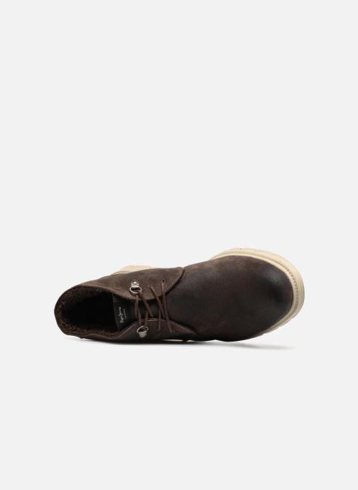 Boots en enkellaarsjes Pepe jeans CLIVE SAND BOOT Bruin links