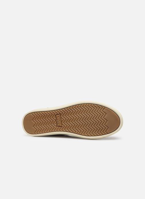 Baskets Levi's Baker Marron vue haut