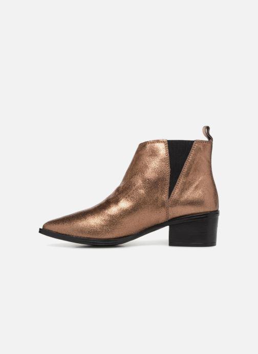 Bottines et boots Levi's Gaia Or et bronze vue face