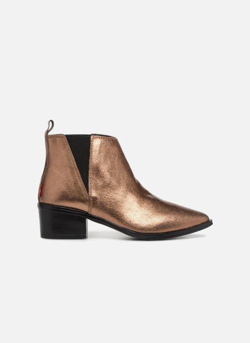 Bottines et boots Levi's Gaia Or et bronze vue derrière