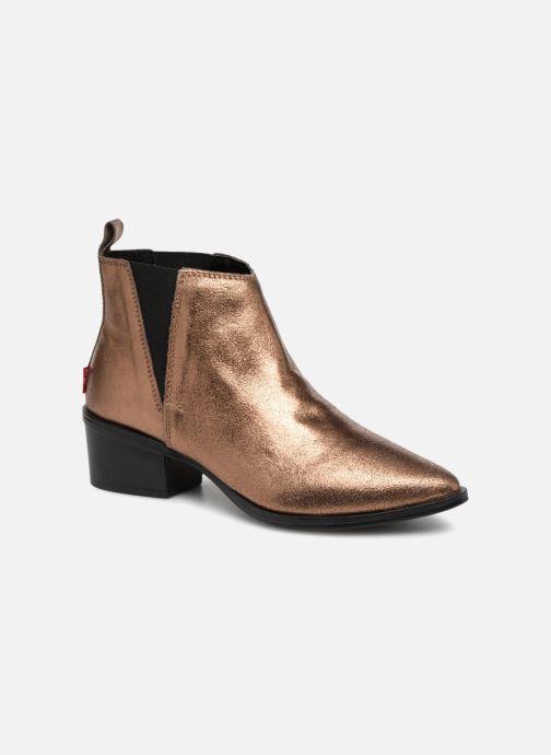 Bottines et boots Levi's Gaia Or et bronze vue détail/paire