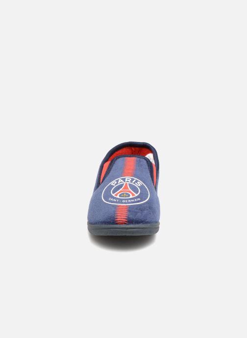 Chaussons PSG Goal Bleu vue portées chaussures