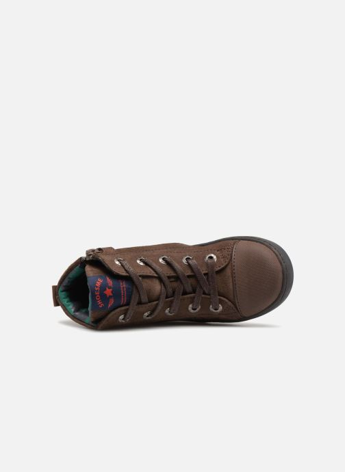 Sneakers Shoesme Sean Marrone immagine sinistra