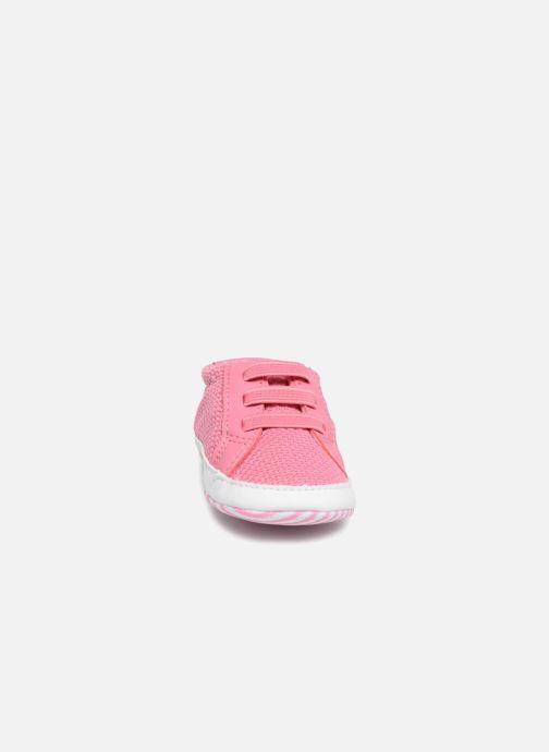 Chaussons Lacoste L 1212 Crib 318 1 CAB Rose vue portées chaussures