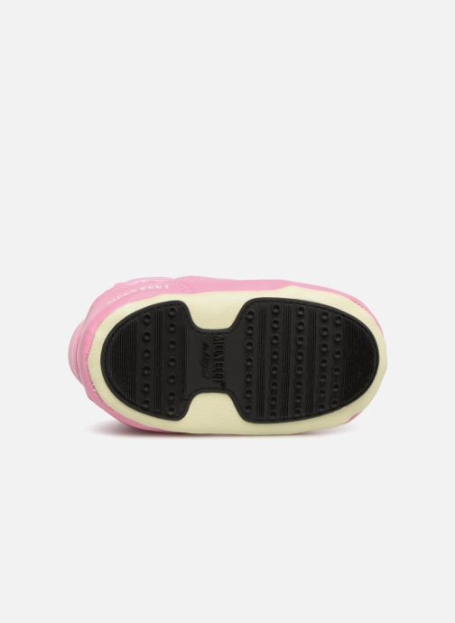 Chaussures de sport Moon Boot Moon Boot Crib 2 Rose vue haut