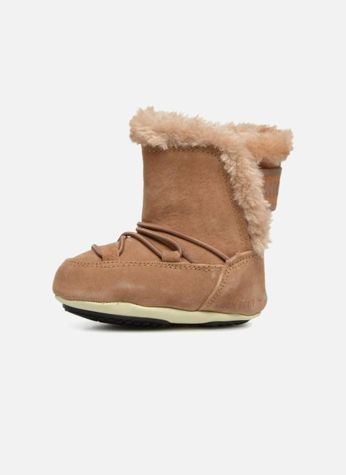 Sport shoes Moon Boot Moon Boot Crib Suede Beige front view