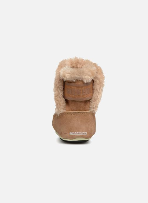 Sport shoes Moon Boot Moon Boot Crib Suede Beige view from the right