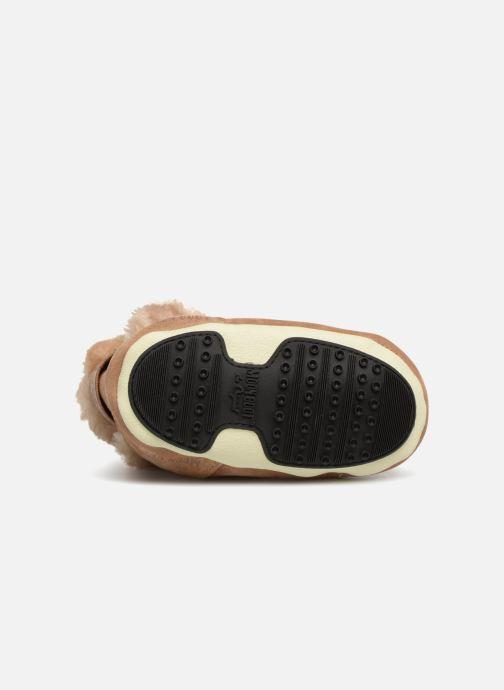 Chaussures de sport Moon Boot Moon Boot Crib Suede Beige vue haut