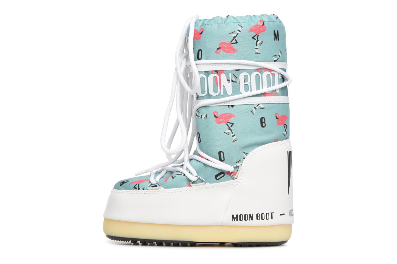 Sportschuhe Moon Boot Moon Boot Flamingo grün ansicht von vorne