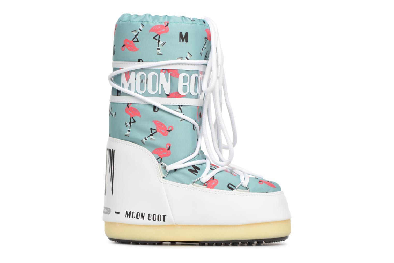 Sportschuhe Moon Boot Moon Boot Flamingo grün ansicht von hinten