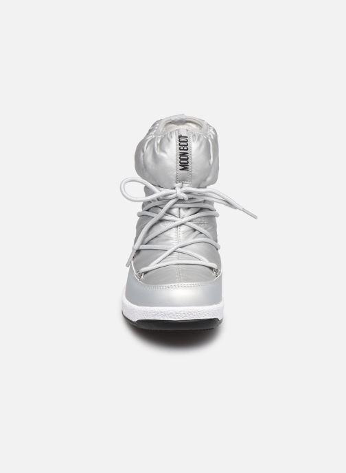 Chaussures de sport Moon Boot Moon Boot W,E JR Girl Low Nylon WP Argent vue portées chaussures