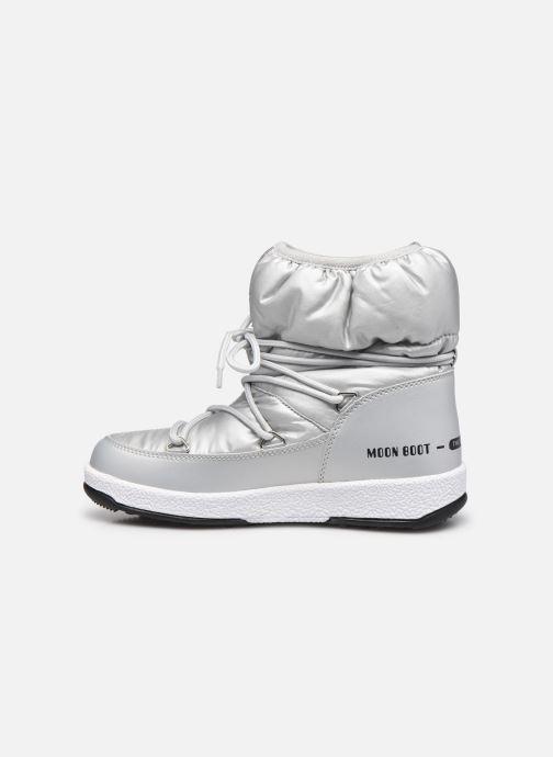 Chaussures de sport Moon Boot Moon Boot W,E JR Girl Low Nylon WP Argent vue face