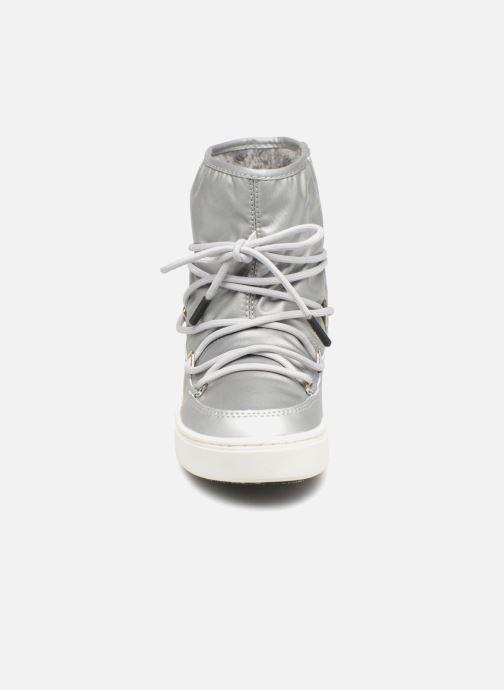Chaussures de sport Moon Boot Moon Boot Pulse JR Girl Nylon Plus WP Argent vue portées chaussures