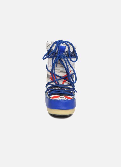 Sportschuhe Moon Boot Moon Boot JR Boy Superhero blau schuhe getragen