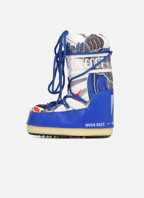 Sportschuhe Moon Boot Moon Boot JR Boy Superhero blau ansicht von vorne