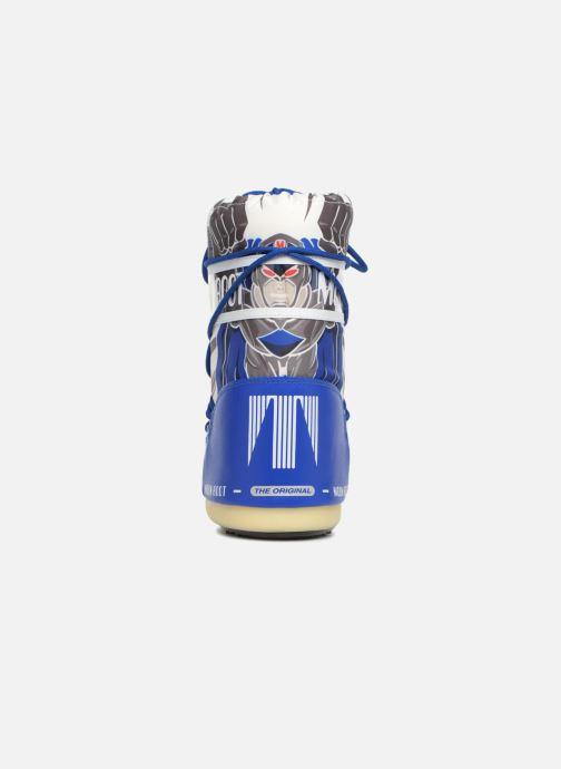 Sportschuhe Moon Boot Moon Boot JR Boy Superhero blau ansicht von rechts