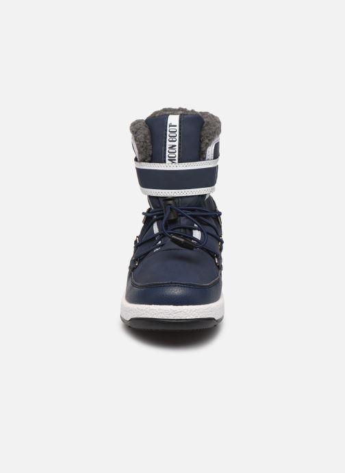 Scarpe sportive Moon Boot Moon Boot W,E JR Boy Boot WP Azzurro modello indossato