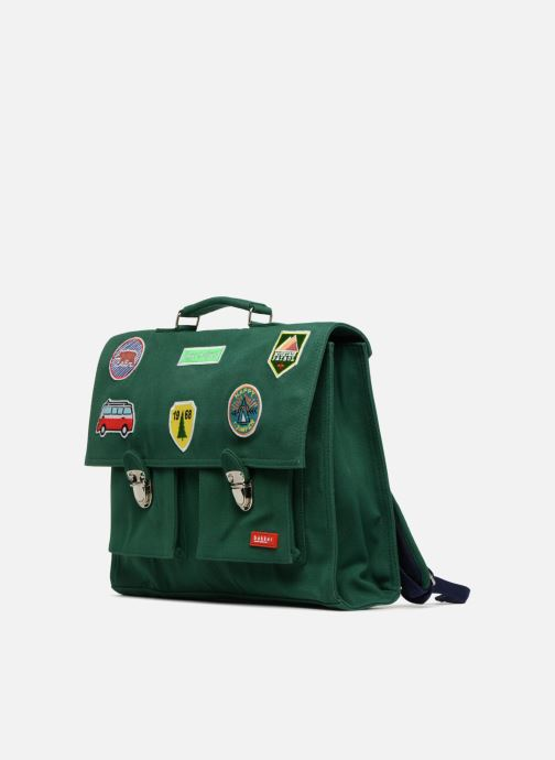 School bags Bakker Made With Love CARTABLE 37 CM JEAN&PATCHS Green model view