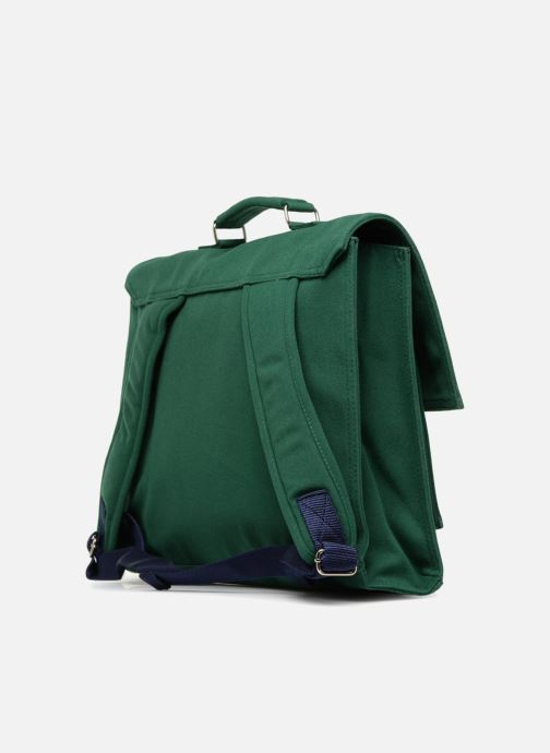 School bags Bakker Made With Love CARTABLE 37 CM JEAN&PATCHS Green view from the right