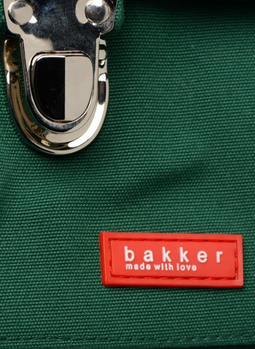 School bags Bakker Made With Love CARTABLE 37 CM JEAN&PATCHS Green view from the left