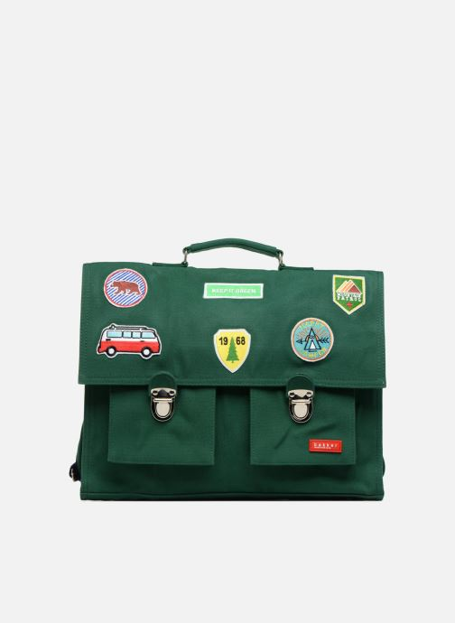School bags Bakker Made With Love CARTABLE 37 CM JEAN&PATCHS Green detailed view/ Pair view