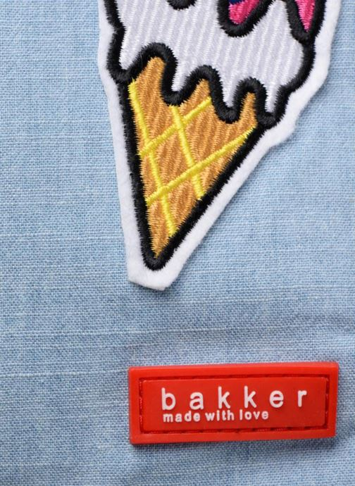 Zaini Bakker Made With Love MINI BACKPACK JEAN&PATCHS Azzurro immagine sinistra