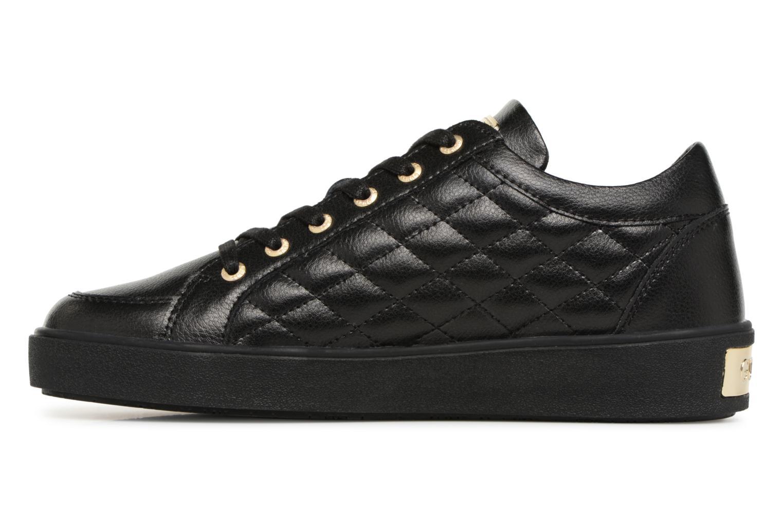 Sneaker Guess Gleena schwarz ansicht von vorne