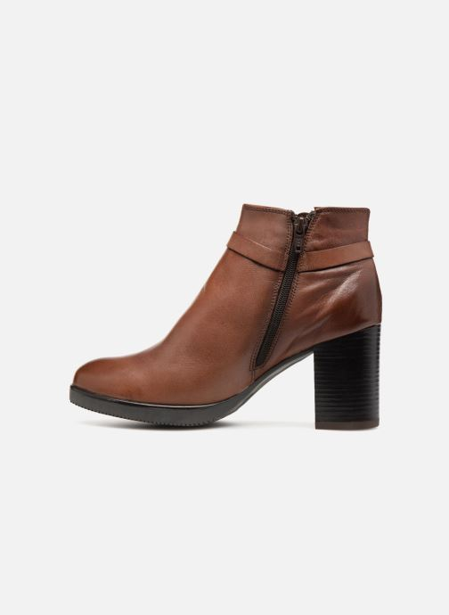 Bottines et boots Georgia Rose Dorina Marron vue face