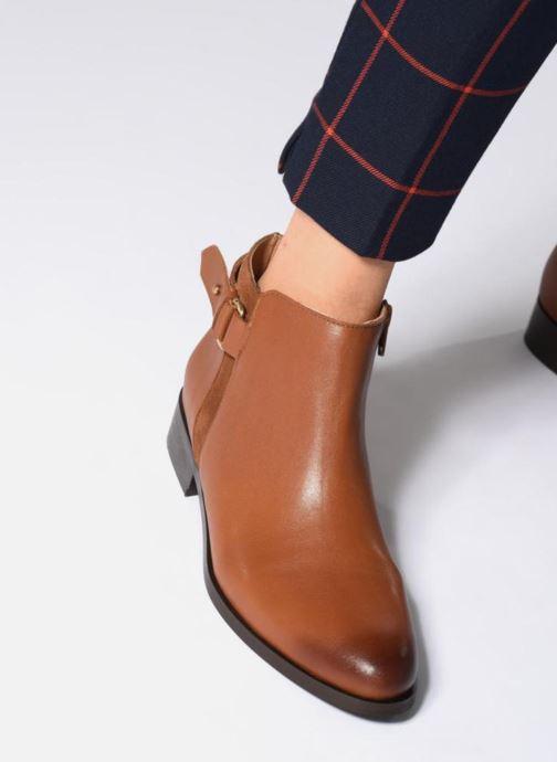 Bottines et boots Georgia Rose Corclou Marron vue bas / vue portée sac