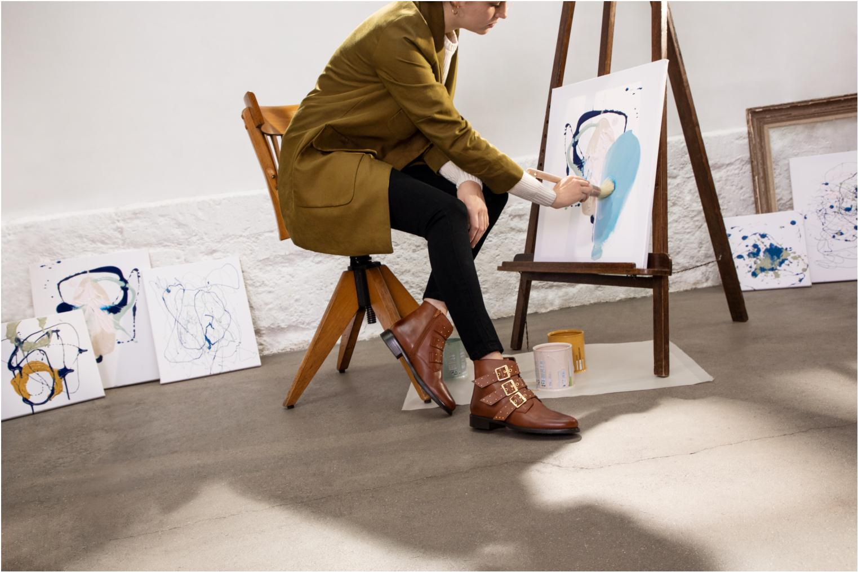 Bottines et boots Georgia Rose Clarissa Marron vue bas / vue portée sac