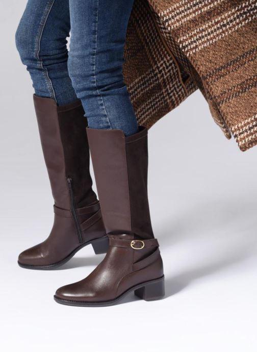 Stiefel Georgia Rose Cobelle braun ansicht von unten / tasche getragen