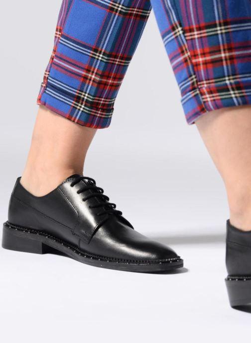 Chaussures à lacets Bronx BNOIRX 1 Noir vue bas / vue portée sac