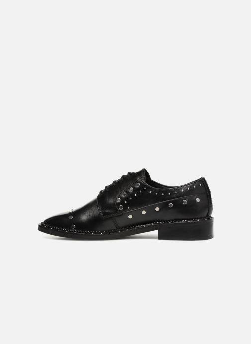 Lace-up shoes Bronx BNOIRX 2 Black front view