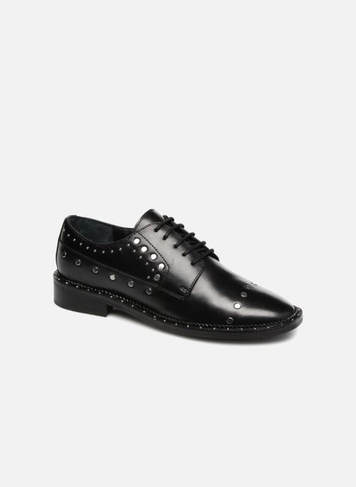 Lace-up shoes Bronx BNOIRX 2 Black detailed view/ Pair view