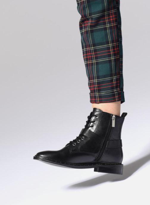 Bottines et boots Bronx BNOIRX Noir vue bas / vue portée sac