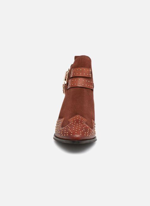 Bottines et boots Bronx BTEX-CHUNKYX Orange vue portées chaussures