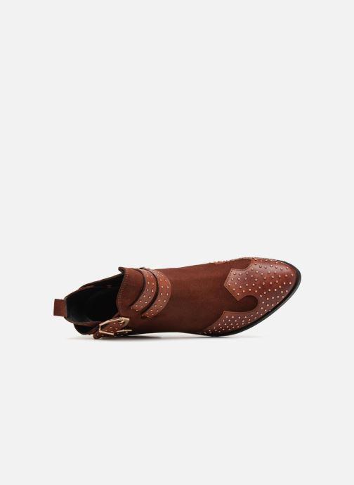 Bottines et boots Bronx BTEX-CHUNKYX Orange vue gauche