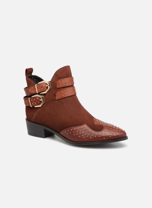 Ankle boots Bronx BTEX-CHUNKYX Orange detailed view/ Pair view