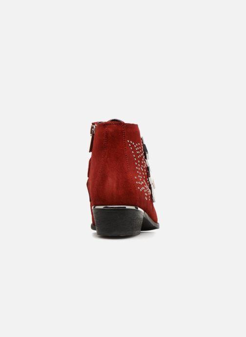Botines  Bronx 47070-I31 Rojo vista lateral derecha