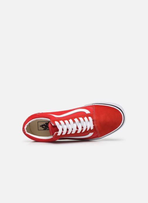 Sneaker Vans Old Skool M rot ansicht von links