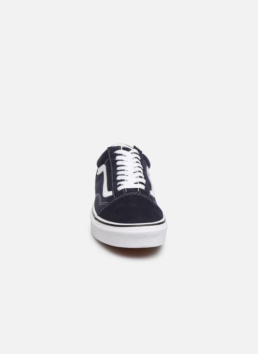Sneaker Vans Old Skool M blau schuhe getragen