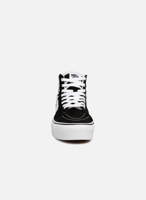 Sneakers Vans SK8 Hi Platform Nero modello indossato