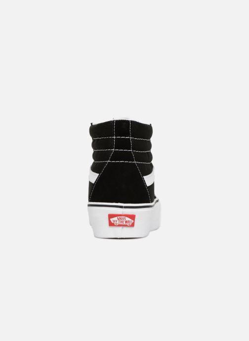 Sneakers Vans SK8 Hi Platform Zwart rechts