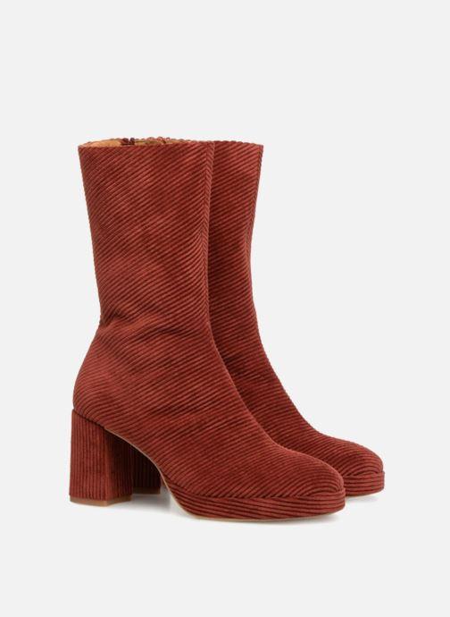 Bottines et boots Miista CARLOTA Rouge vue 3/4
