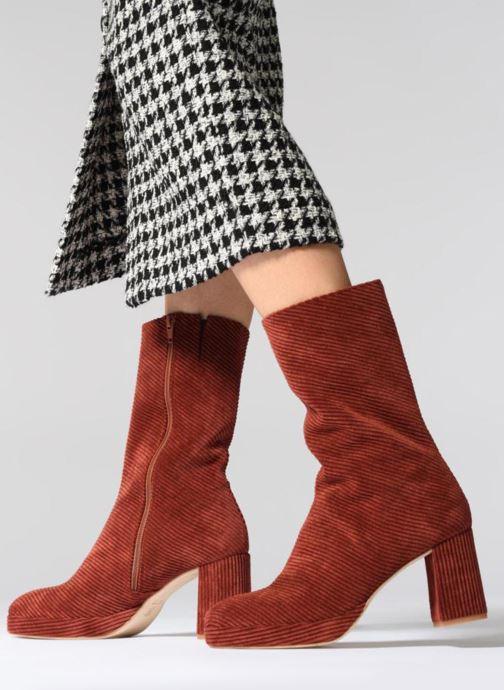 Bottines et boots Miista CARLOTA Rouge vue bas / vue portée sac