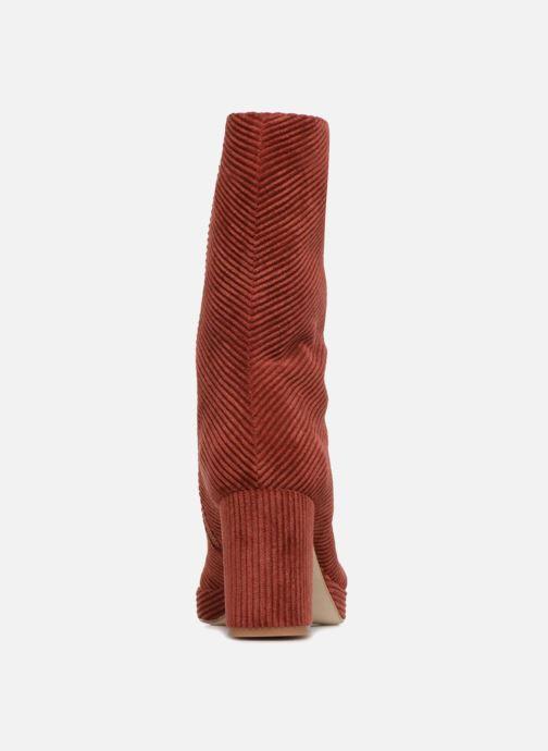 Bottines et boots Miista CARLOTA Rouge vue droite