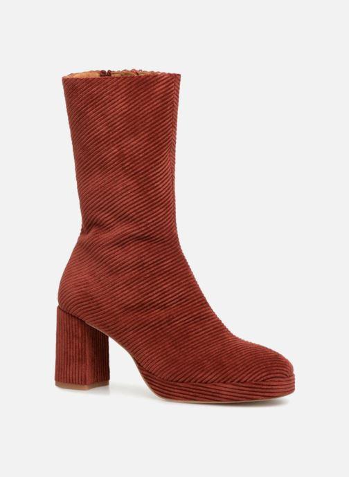 Ankelstøvler Miista CARLOTA Rød detaljeret billede af skoene