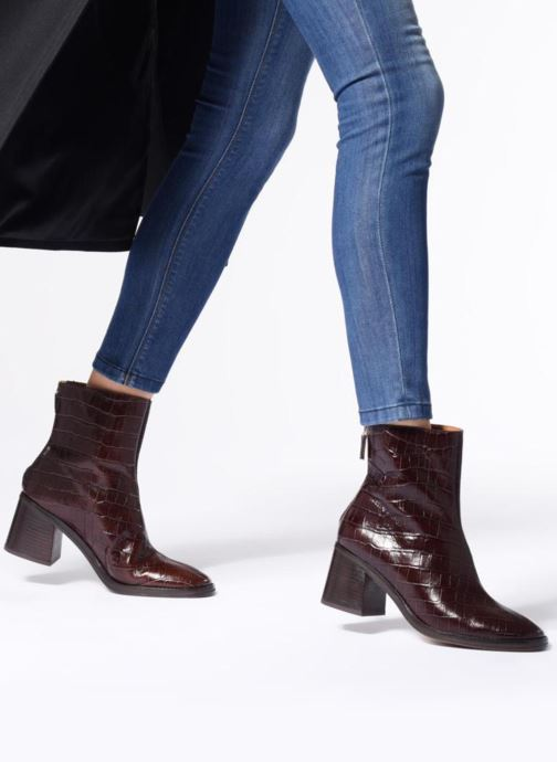 Bottines et boots Miista CYBIL Marron vue bas / vue portée sac