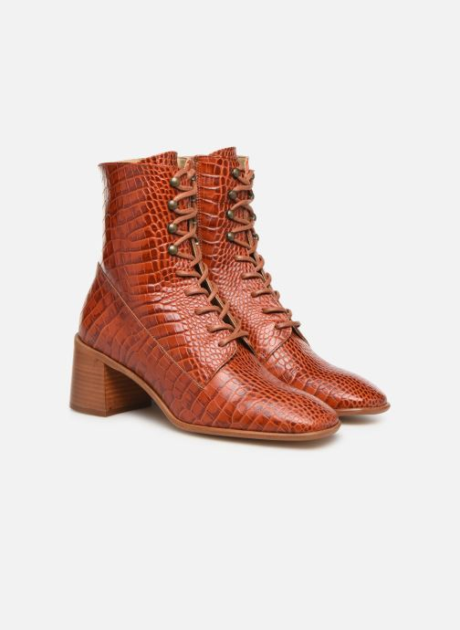 Ankle boots E8 by Miista EMMA Orange 3/4 view